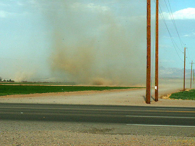 Damage to Local Crops Forces Hopkins to Discontinue Dust Control