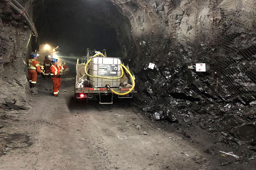 Underground Mine Dust Suppression