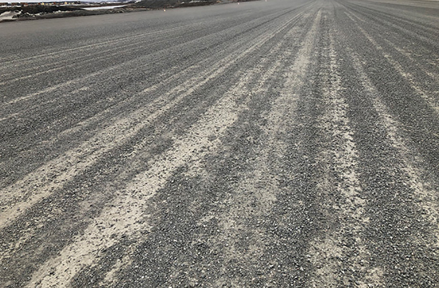 FOD Loose Gravel on Gravel Airstrips